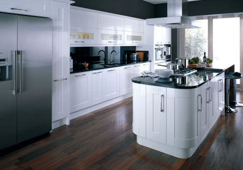 Kitchen gloss on white kitchens